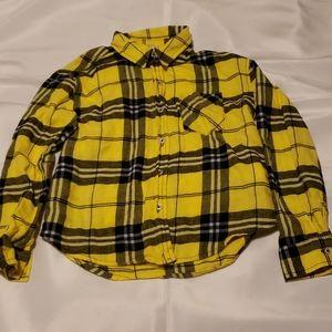 Girl plaid shirt